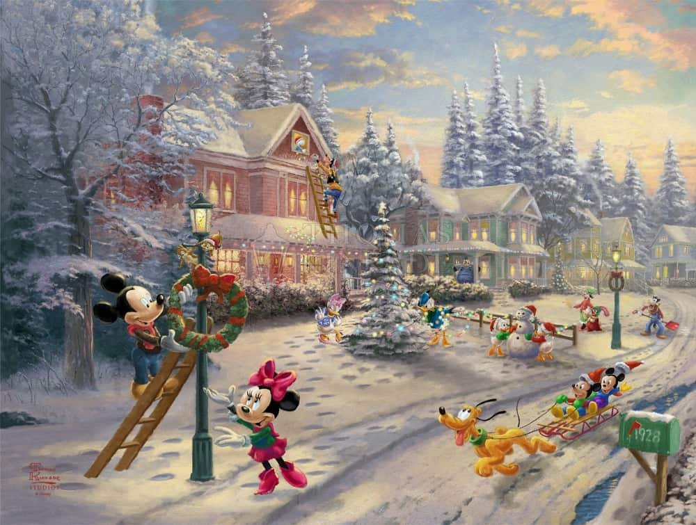 Disney Christmas Paintings