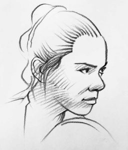 EE Sketch Rey's Awakening