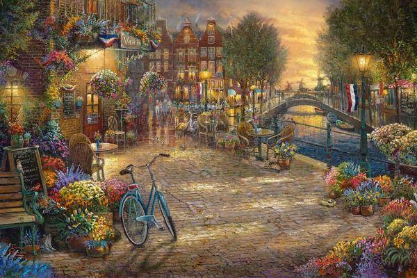 Amsterdam Café By Thomas Kinkade Studios