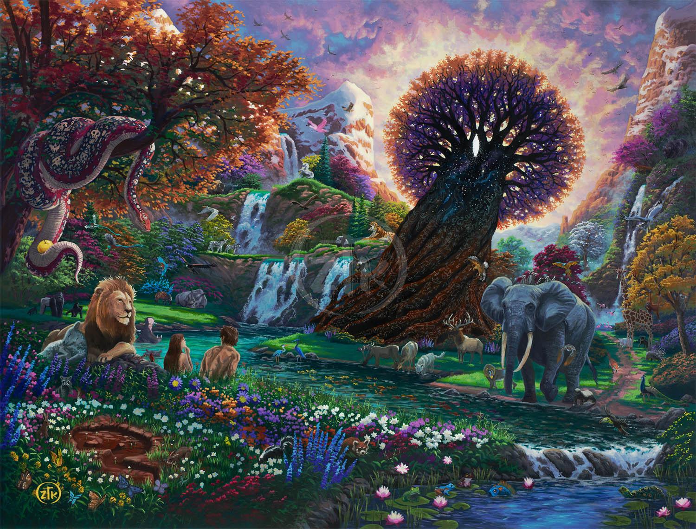 Garden Of Eden  Thomas Kinkade Carmel, Monterey & Placerville