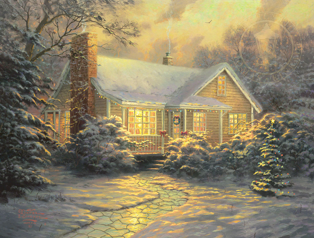 Christmas Cottage Movie Release Paintings Art Monterey