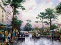 Carmel, Ocean Avenue on a Rainy Afternoon