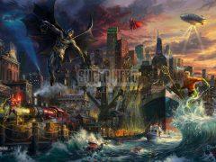 Justice League Showdown At Gotham City Pier