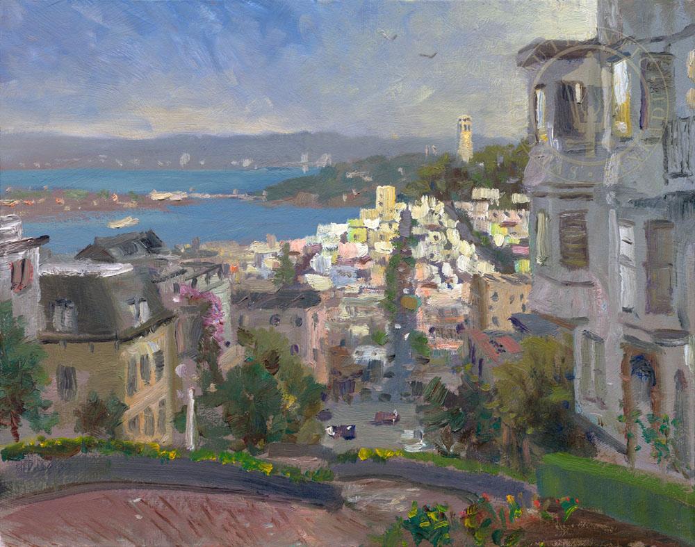 San Francisco, Lombard St. Study