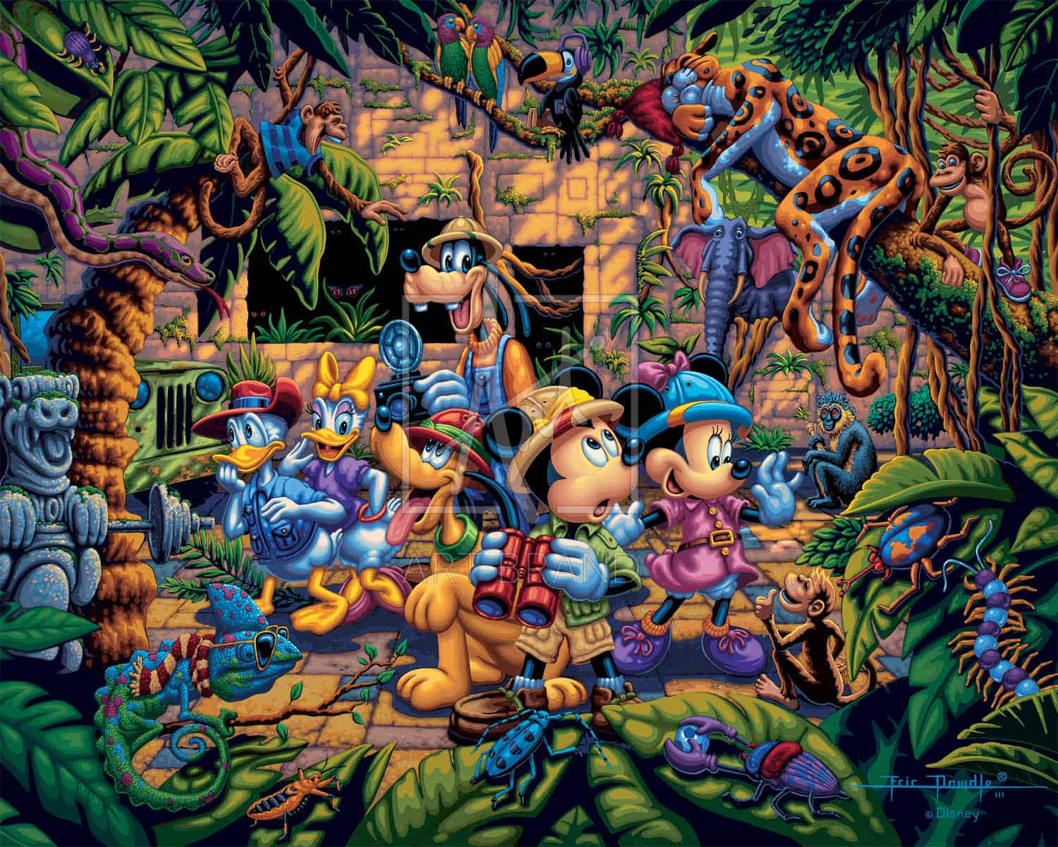 Mickey And Friends Exploring The Jungle