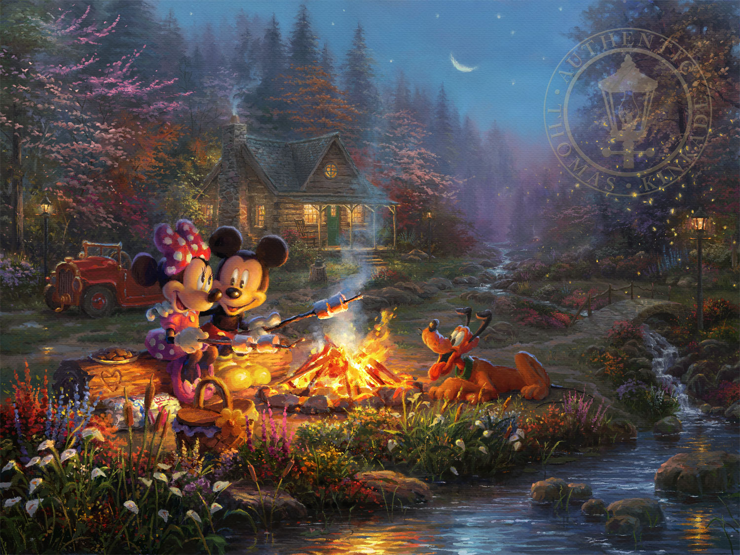 Mickey and Minnie Sweetheart Campfire