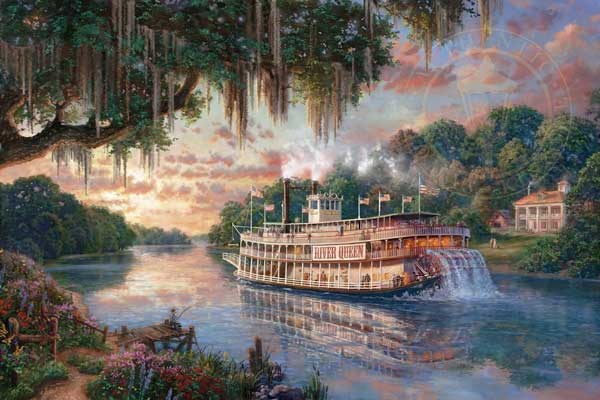Rivers, Streams & Boats Art