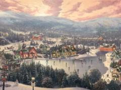 Sunset on Snowflake Lake
