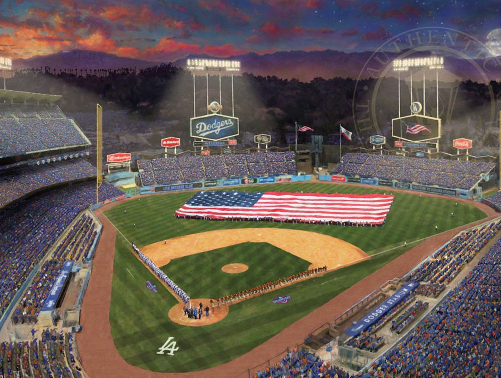 Thomas Kinkade Dodger Stadium