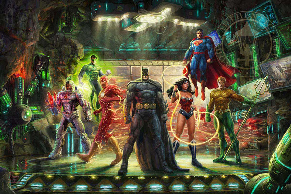 Thomas Kinkade Justice League