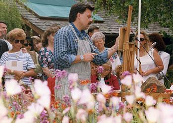 Thomas Kinkade Painting Monterey 1996 Archive Photo