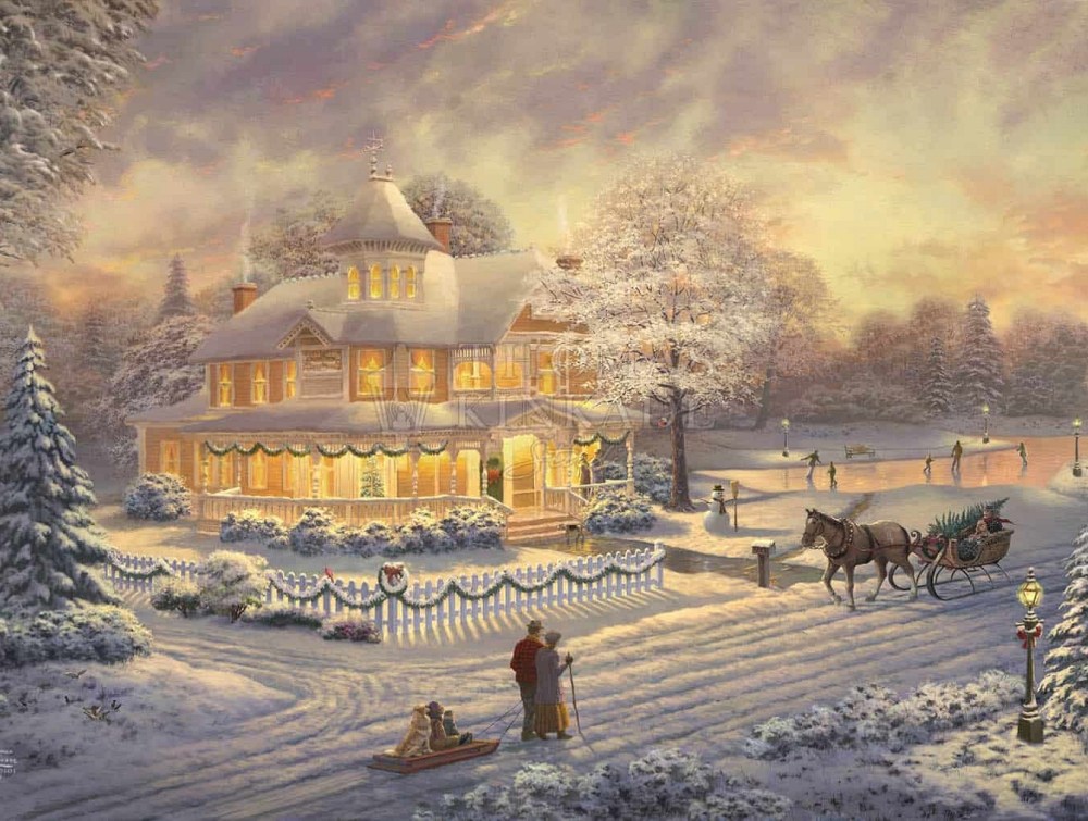 Victorian Christmas Sunset